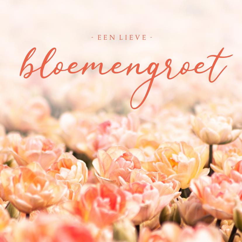 Zomaar kaarten - Zomaar kaart oranje tulpen lieve bloemengroet