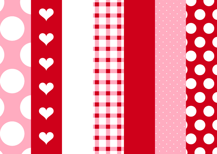 Zomaar kaarten - zomaar kaart Stippen hartjes en ruitjes