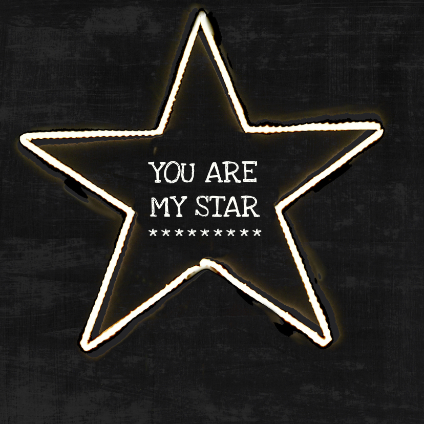 Zomaar kaarten - Zomaar kaart you are my star