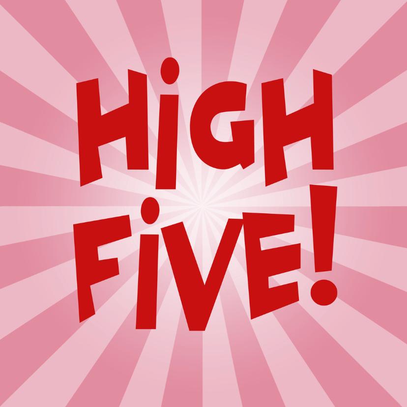 Zomaar kaarten - zomaar kaarten - high five!