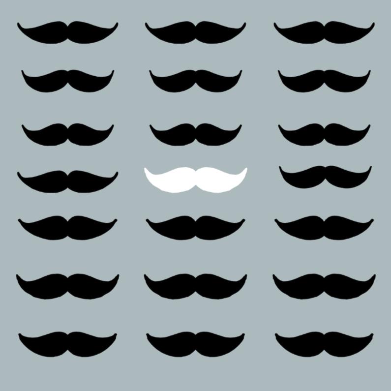 Zomaar kaarten - Zomaar kaarten - moustache