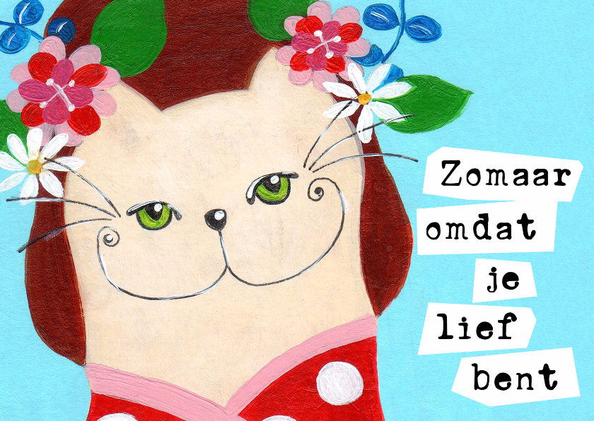 Zomaar kaarten - Zomaar kat lief bent