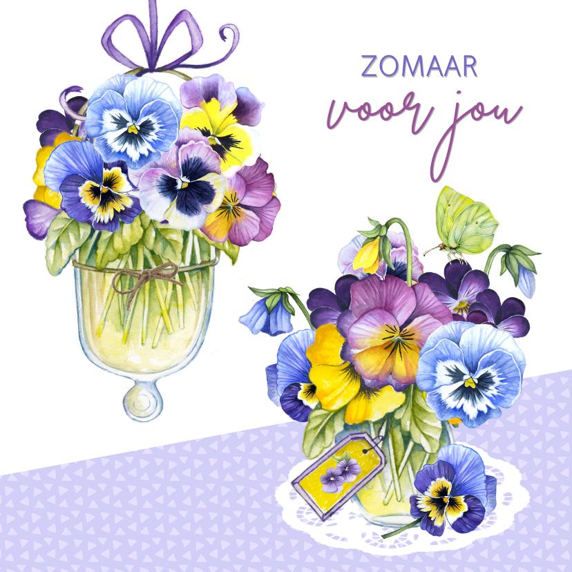 Zomaar kaarten - Zomaar met lieve viooltjes