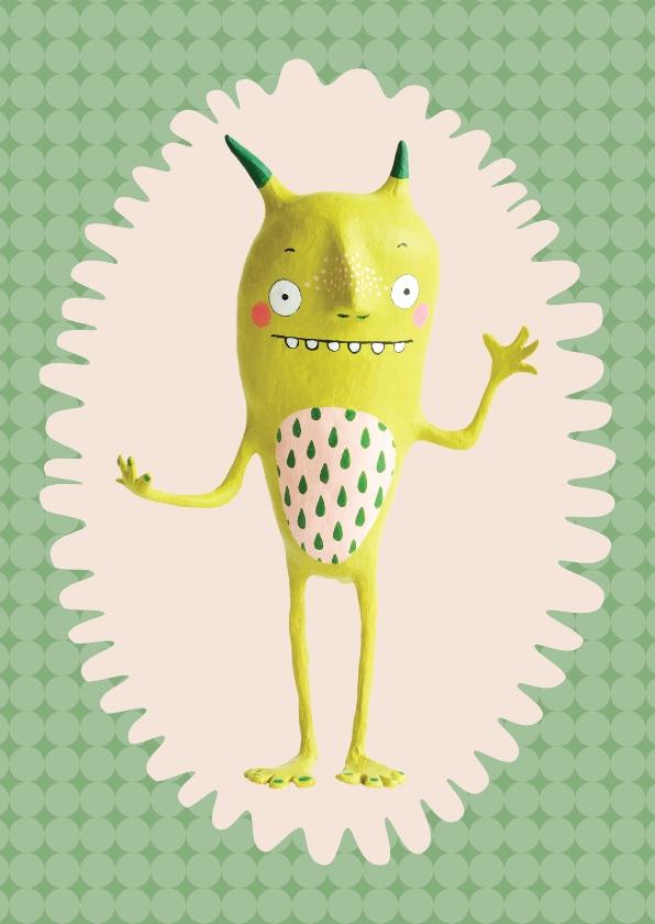 Zomaar kaarten - Zomaar monster groen motief