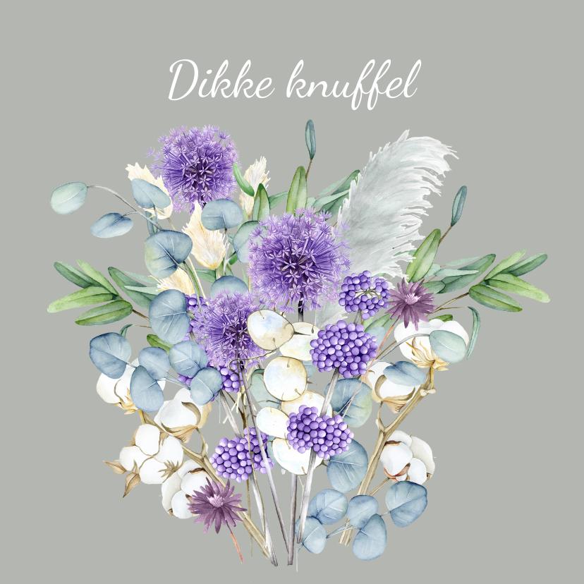 Zomaar kaarten - Zomaar paarse bloemen