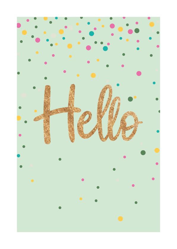 Zomaar kaarten - Zomaarkaart - Hello - sparkling