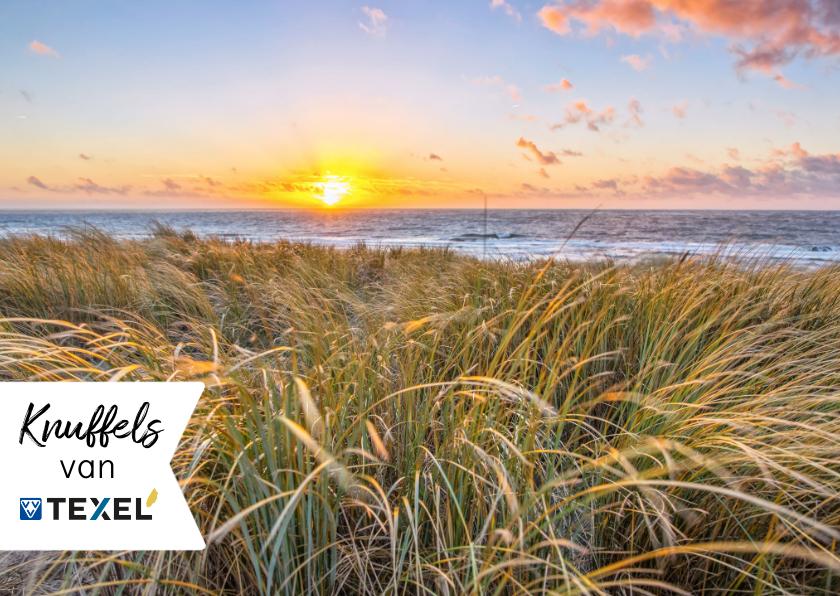 Zomaar kaarten - Zomaarkaart kusjes vanaf Texel zeezicht