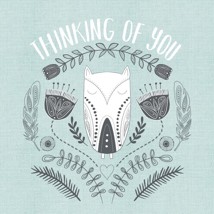 Zomaar kaarten - Zomaarkaart - Thinking of you