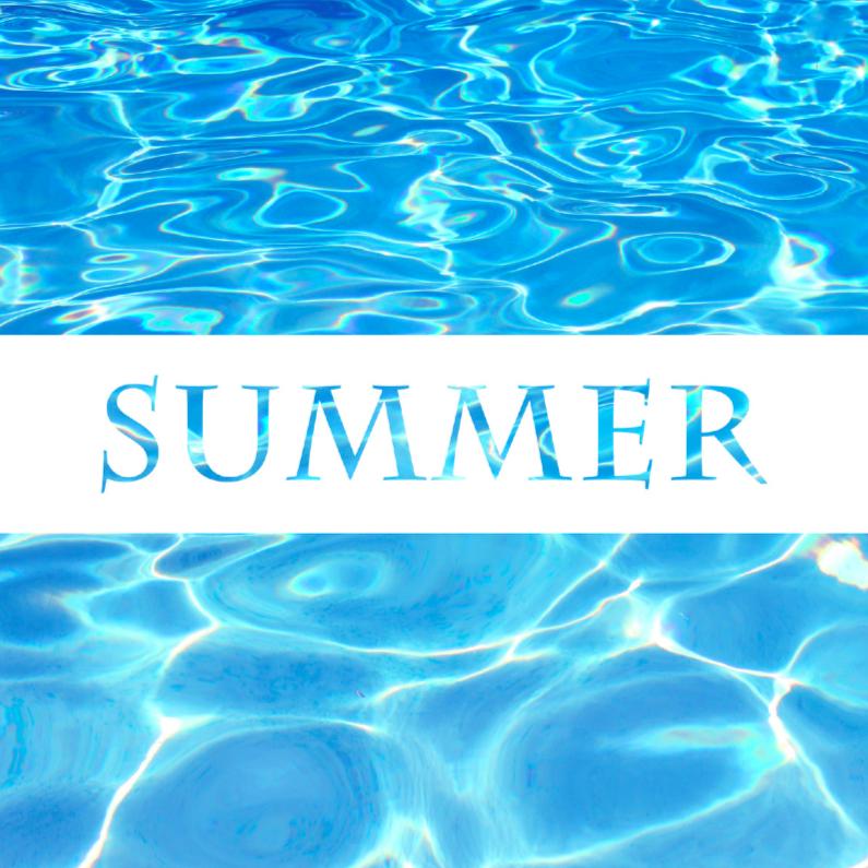 Zomaar kaarten - Zomerkaart zwembad